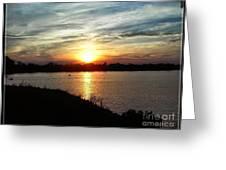 Fisherman's Sunset Horizon Greeting Card