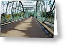 Fisheye South Washington St. Bridge Greeting Card