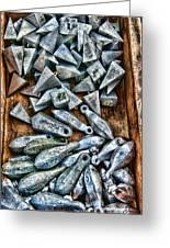 Fishing - Box Of Sinkers Greeting Card by Paul Ward