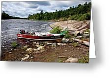 Fishing And Exploring Greeting Card