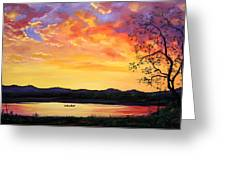 Fishing At First Light II Greeting Card