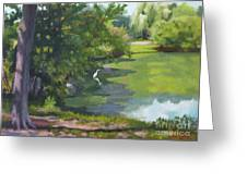 Fishing At Glen Rock Pond Greeting Card