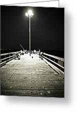 Fishing At Night Greeting Card