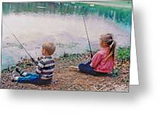 Fishing At Watkins Mill Greeting Card