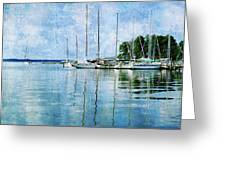 Fishing Bay Reflections Greeting Card
