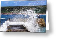 Fishing Beyond The Surf Greeting Card by Terri Waters
