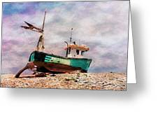 Fishing Boat At Aldeburgh Greeting Card