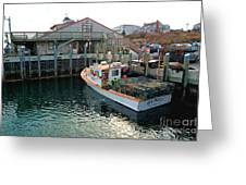 Fishing Boat At Chatham Fish Pier Greeting Card