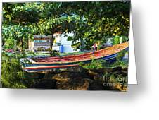 Fishing Boat At Rest  Greeting Card
