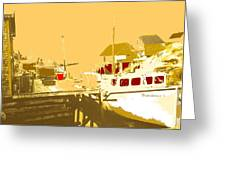 Fishing Boat At The Dock Greeting Card