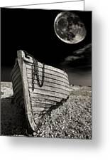 Fishing Boat Graveyard 3 Greeting Card by Meirion Matthias
