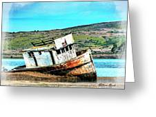 Fishing Boat Point Reyes Greeting Card by William Havle
