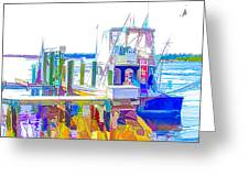 Fishing Boats 2 Greeting Card