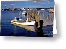 Fishing Boats At Dock Ocracoke Village Greeting Card