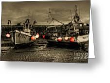 Fishing Boats At Lyme Regis Greeting Card