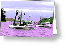 Fishing Boats At Pearl Beach 1.0 Greeting Card