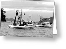 Fishing Boats At Pearl Beach 1.2 Greeting Card