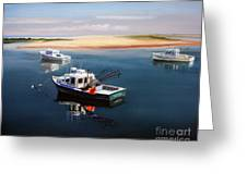 Fishing Boats-cape Cod Greeting Card by Paul Walsh