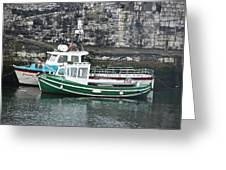 Fishing Boats Clarnlough Northern Ireland Greeting Card