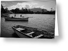 Fishing Boats In Mahebourg  Greeting Card