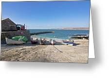 Fishing Boats In Sennen Cove Greeting Card