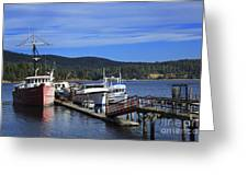 Fishing Boats In Sooke Greeting Card