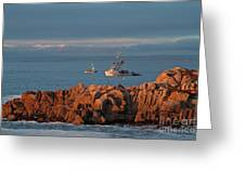 Fishing Boats On Monterey Bay Greeting Card