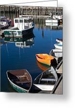 Fishing Boats, Rockport, Ma Greeting Card