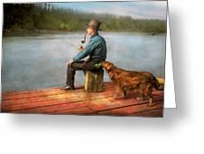 Fishing - Booze Hound 1922 Greeting Card