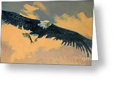 Fishing Eagle Greeting Card by Donald Maier