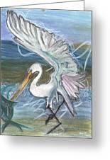 Fishing Egret Greeting Card