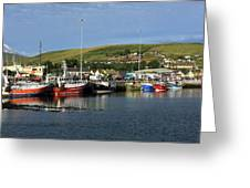 Fishing Fleet At Dingle, County Kerry, Ireland Greeting Card
