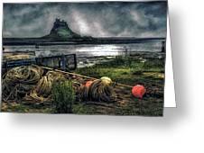 Fishing Gear At Lindisfarne. Greeting Card