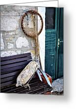 Fishing Gear In Primosten, Croatia Greeting Card