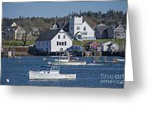 Fishing Harbor Greeting Card