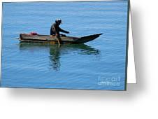 Fishing In Atitlan Lake Greeting Card