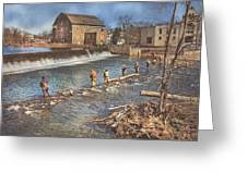 Fishing In Clinton Greeting Card