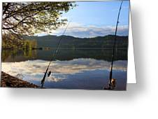 Fishing In Early Morning Greeting Card