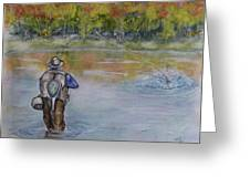 Fishing In Natures Beauty Greeting Card
