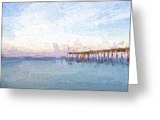 Fishing In Venice, Florida II Greeting Card
