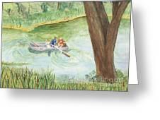 Fishing Lake Tanko Greeting Card