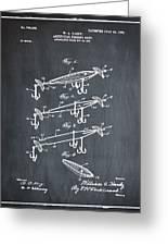 Fishing Lure Patent 1904 Chalk Greeting Card