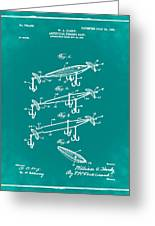 Fishing Lure Patent 1904 Green Greeting Card