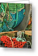 Fishing Net Portrait Greeting Card