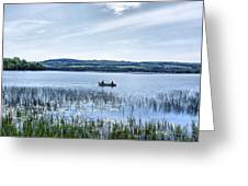 Fishing On Lake Carmi Greeting Card