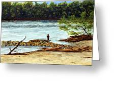 Fishing On The Missouri River Greeting Card