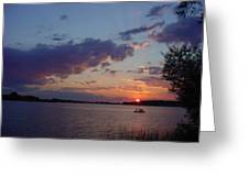 Fishing On The St.lawrence River. Greeting Card