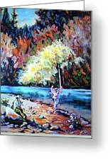Fishing Painting Catch Of The Day Greeting Card