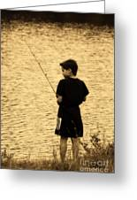 Fishing Patience Greeting Card