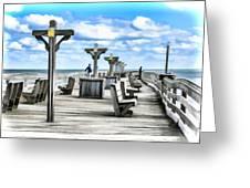 Fishing Pier 13 Greeting Card